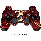 Sticker Manette PS3 Autocollant pour Manette Playstation 3 - Skull Dark Red [Manette Non inclus]