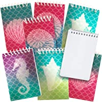 ArtCreativity Mini Mermaid Scale Notebooks, Pack of 12, Small Spiral Notepads with Metallic Covers, Cute Stationery…
