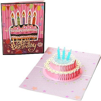 Tarjeta de Cumpleaños Pop Paper Spiritz Feliz Cumpleaños Tarjeta de Cumpleaños Día de San Valentín Personalizada Niña niño Original Gigante 3D ...