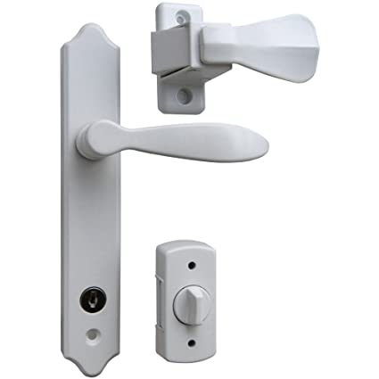 Ideal Security ML Lever Set for Storm and Screen Doors, With Keyed ...