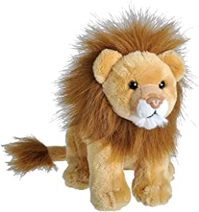 Wild Republic Wild Calls Lion, Authentic Animal Sound, Stuffed Animal, Eight Inches, Gift for Kids, Plush Toy, Fill is Spun Recycled Water Bottles