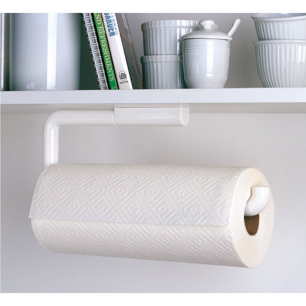 Amazon.com: InterDesign Paper Towel Holder For Kitchen   Wall Mount/Under  Cabinet, White: Home U0026 Kitchen