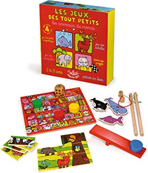 Vilac 6097 - Juego de Mesa de Juguete (Madera), diseño de Animales del Mundo: Amazon.es: Juguetes y juegos