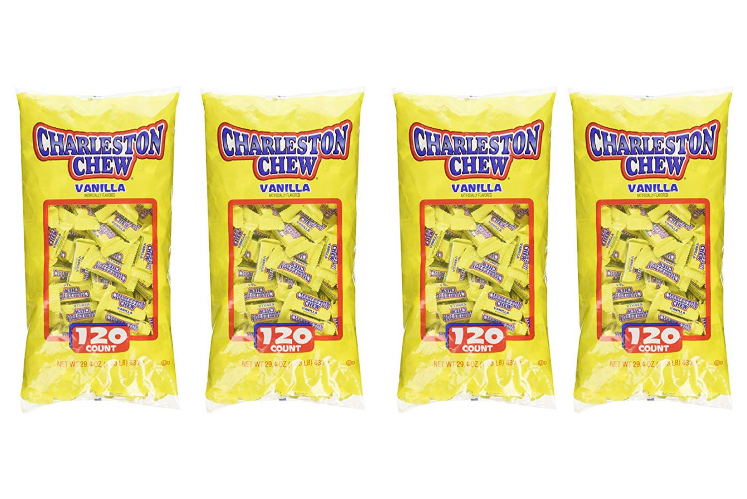 Charleston Chew Vanilla Bulk (120 Count) (4 Pack)
