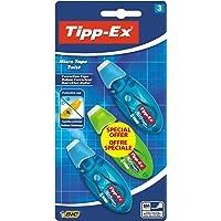 Tipp-Ex Micro Tape Twist Rubans Correcteurs - Corps Couleurs Assorties, Blister de 3