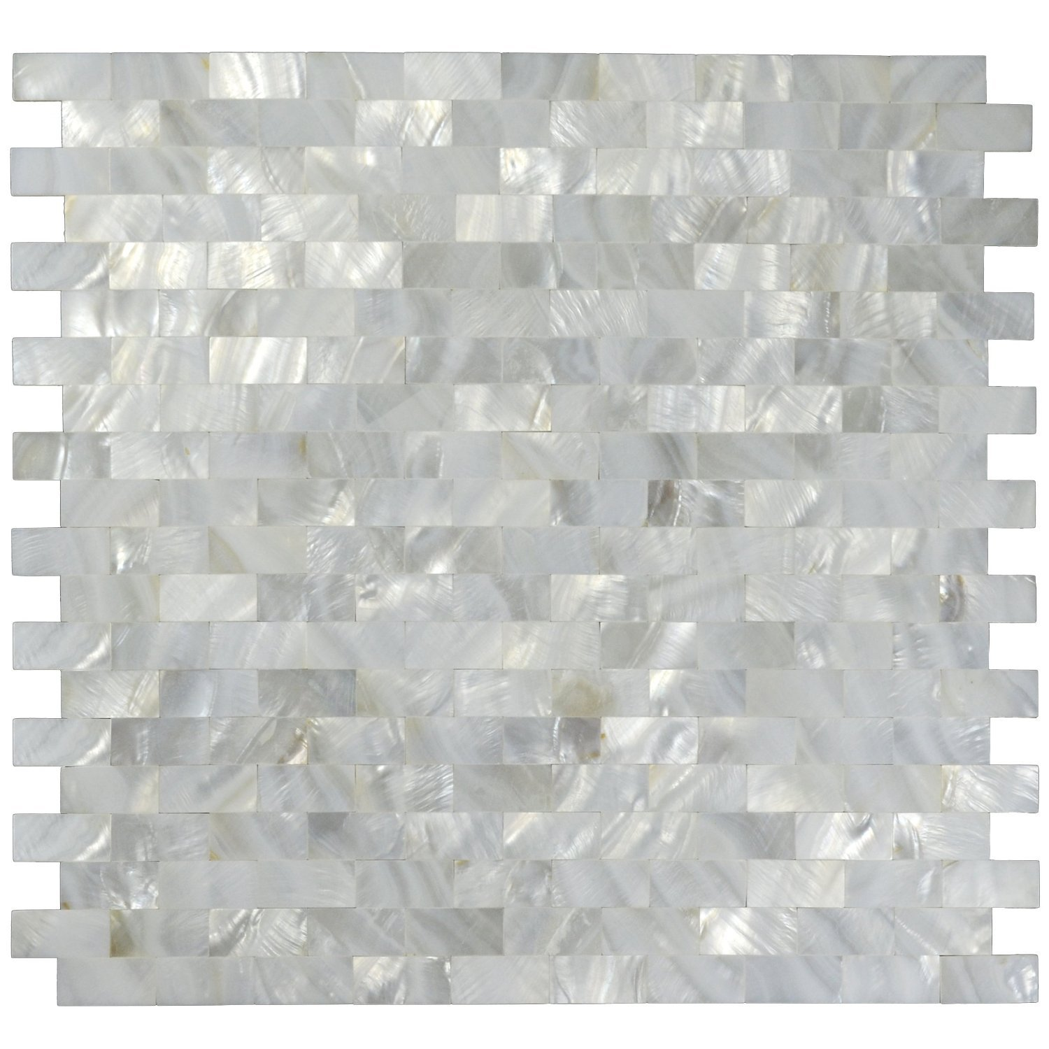 White Mother of Pearl Tile Shell Mosaic Tile Kitchen Backsplash