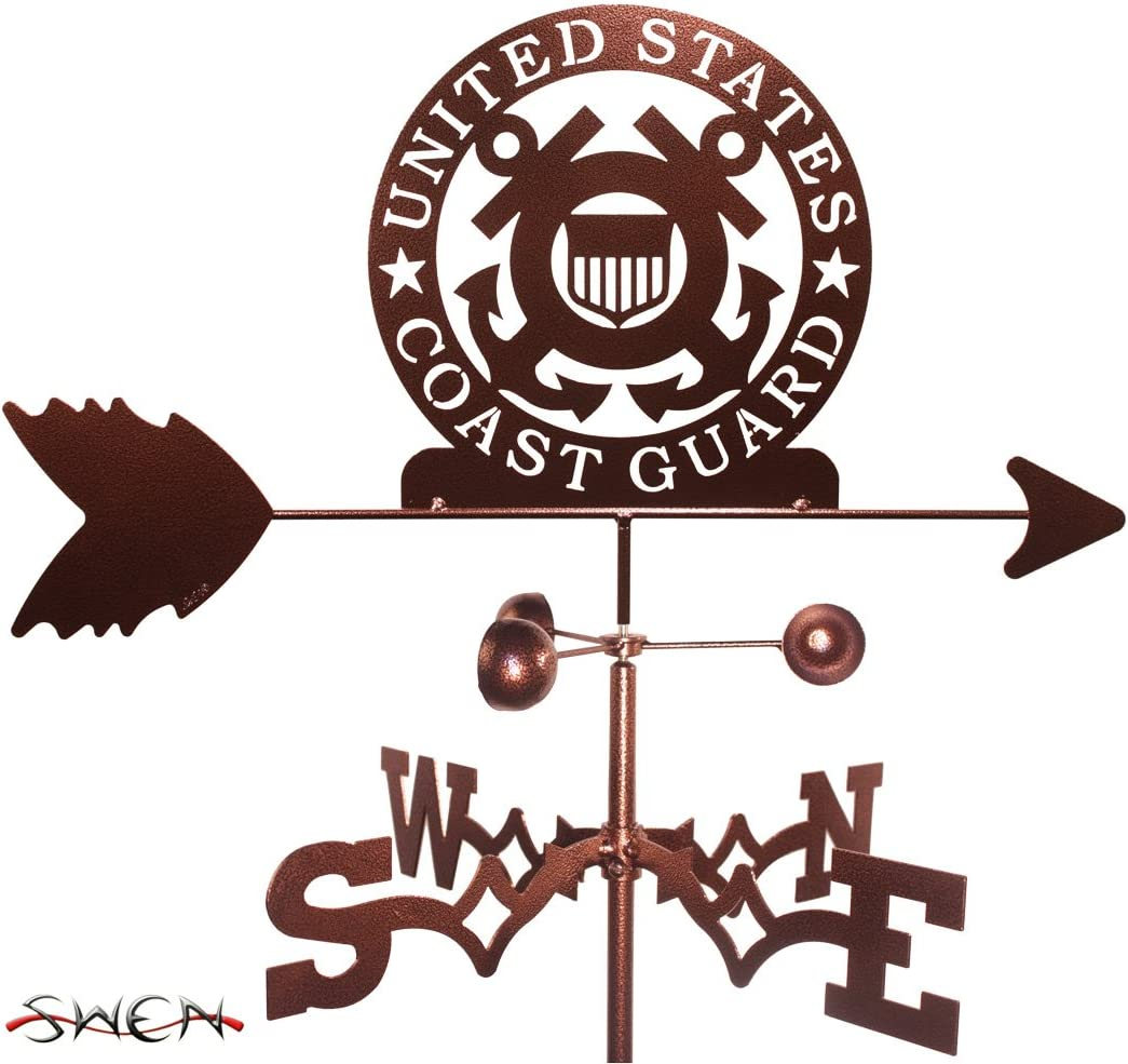 SWEN Products Armed Services US Coast Guard USCG Garden Stake Weathervane