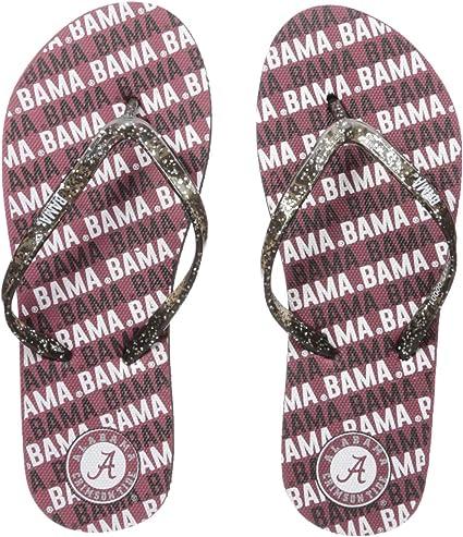 NCAA Womens Team Logo Sequin Flip Flops Sandals
