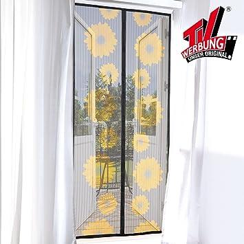 Tv Unser Original 03150 Magic Klick Moskitonetz Mit Magneten Motiv Sonnenblume Amazon De Baumarkt