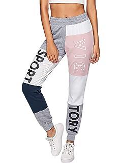 22a094a86b0150 DIDK Damen Jogginghose Cut and Sew Sporthosen Sweathose Farbblock mit Elastischer  Bund