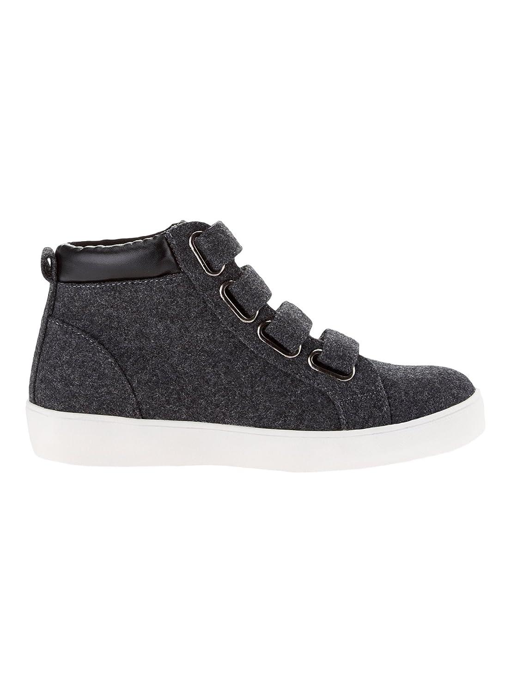 Oodji Ultra Mujer Zapatos con Cierre por Contacto, Gris, 39 EU/6 UK