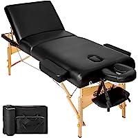 TecTake Table Lit de Massage Pliante Portable - diverses couleurs au choix (Noir)