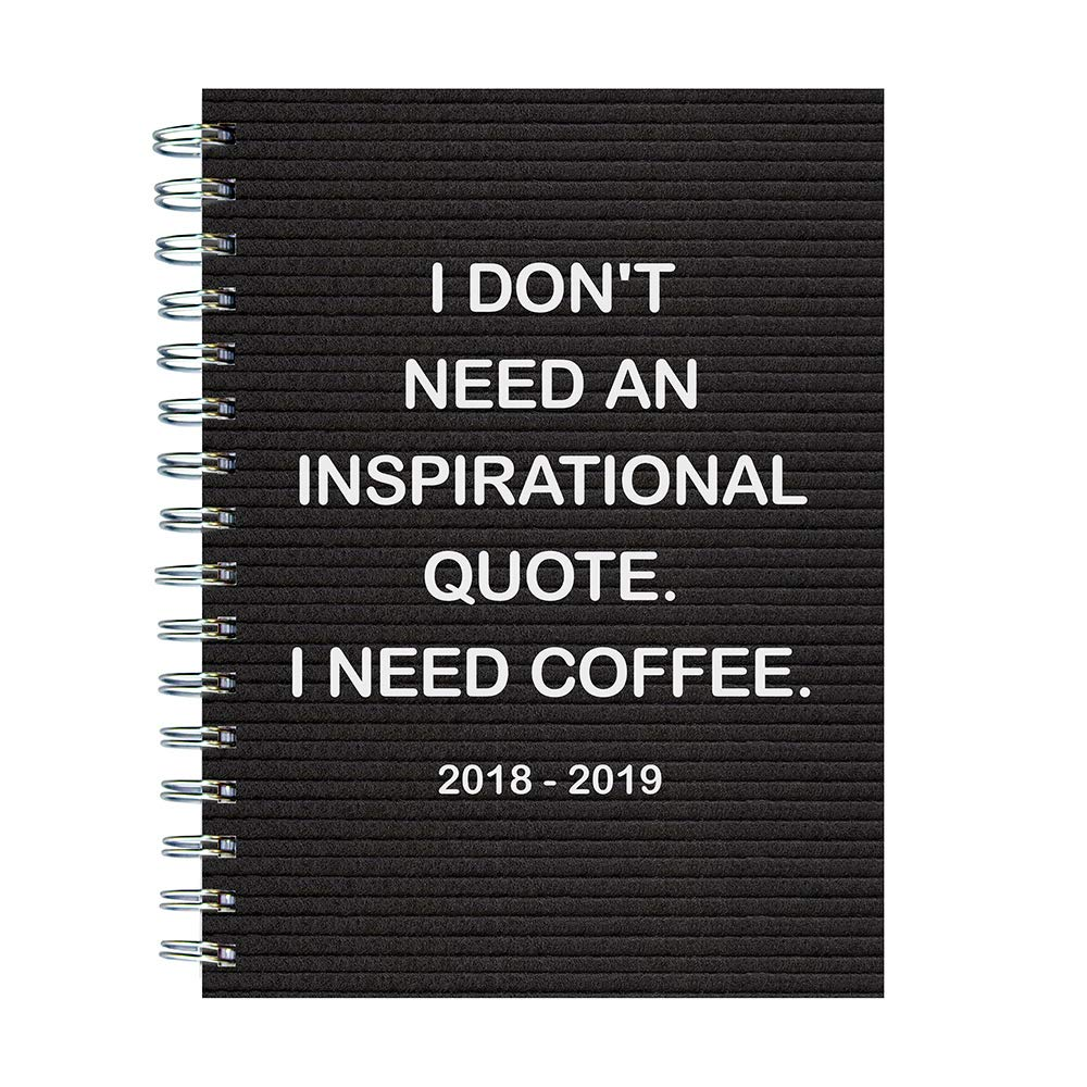 "TF Publishing 19-9057A July 2018 - June 2019 Need Coffee Medium Weekly Monthly Planner, 6.5 x 8"", Black & White pdf epub"
