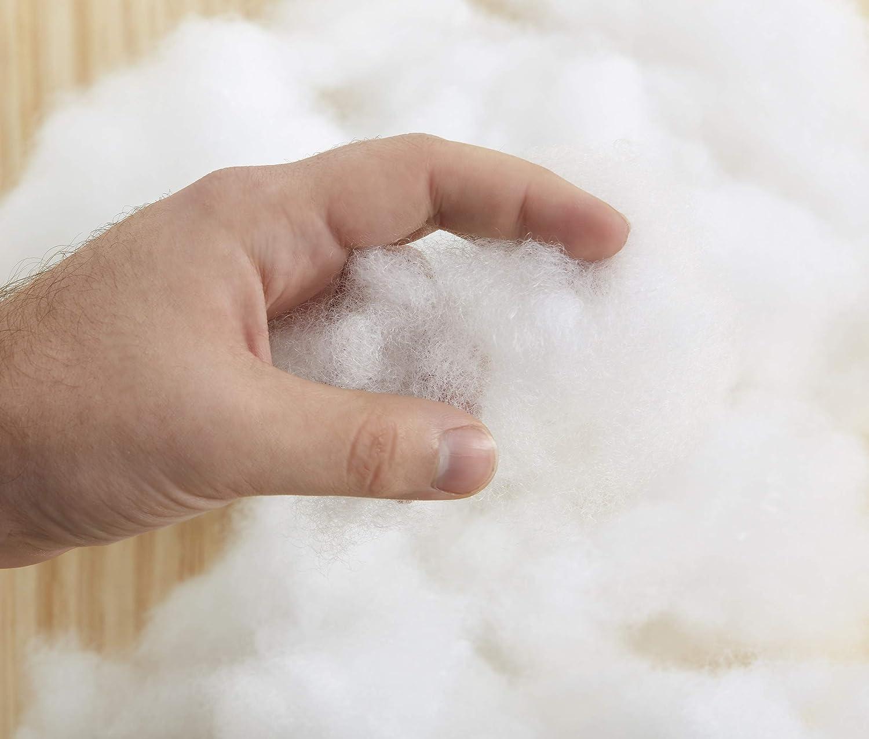 Textilhome 100/% Polyester 2 Coussins de Garnissage en Fibre creure Blanc Dimension 30x50 cm.