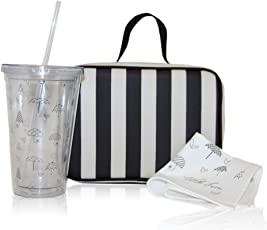 xo(eco) by BlueAvocado Lunch Kit with Lunch Case, Black/Cream