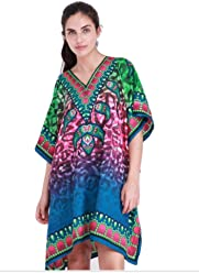 b966a93d991 Dress4Beach Holiday TOP Plus Size Kaftan Tunic Dress Free - Multi - plus  size, fits