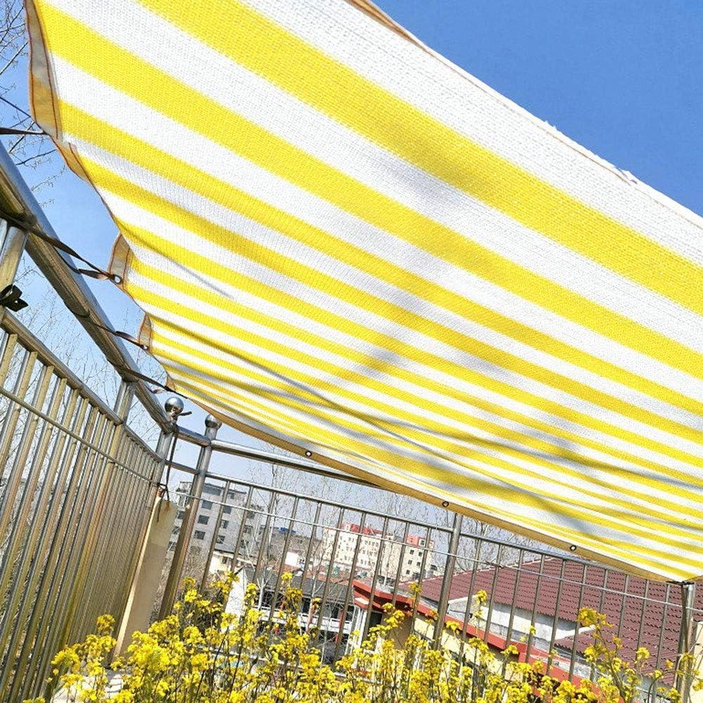 3.28 x3.28 ft WZRIOP Rect/áNgulo Al Aire Libre Red De Sombreado Cocheras Patios Flores Cocheras Rayas Amarillo Y Blanca Tela De Sombra Resistente A Los Rayos UV Techos Piscinas Etc. Balcones