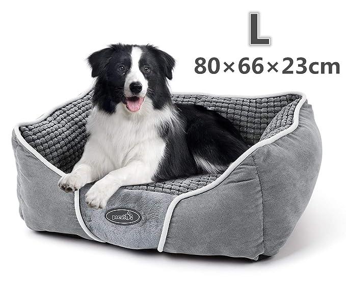 150 opinioni per Pecute Cuccia per Cani Gatti con Cuscino Peluche Ultra-Morbida Lavabile in