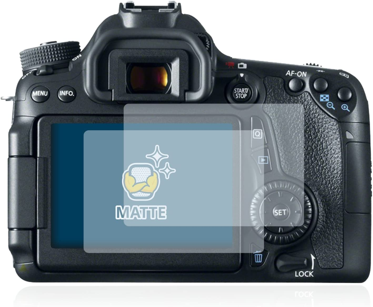 Anti-Fingerprint Anti-Reflex BROTECT 2X Entspiegelungs-Schutzfolie kompatibel mit Canon EOS 70D Displayschutz-Folie Matt