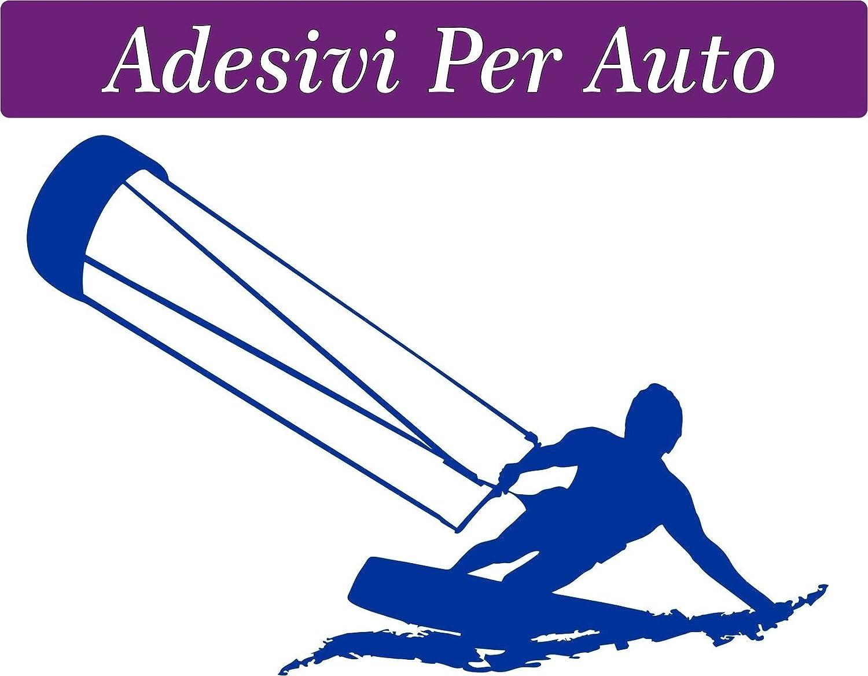 Sardegna Services Autosticker 10 X 15 Cm Kitesurfer Kiten Für Auto Motorroller Camper Zubehör Surfen Windsurfen Kiten Auto