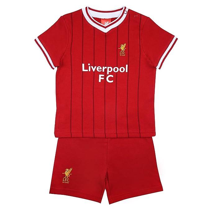 1c4806f17 Liverpool FC Conjunto Oficial de Pantalón Corto y Camiseta - Para Bebés -  Colores de La Primera Equipación  Amazon.es  Ropa y accesorios