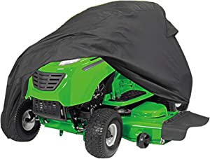 PrimeShield Heavy Duty Waterproof Windproof Lawn Riding Mower Cover, Decks up to 54 Inches, Black