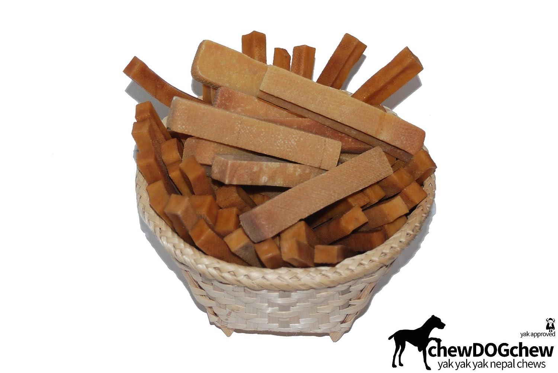 Small 1lb chewDOGchew Natural Yak Chews for Dogs (Small 1lb)