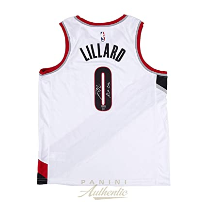 e91ddfe61 Image Unavailable. Image not available for. Color  Damian Lillard  Autographed White Nike Portland Trailblazers Swingman Jersey with quot Rip  City ...