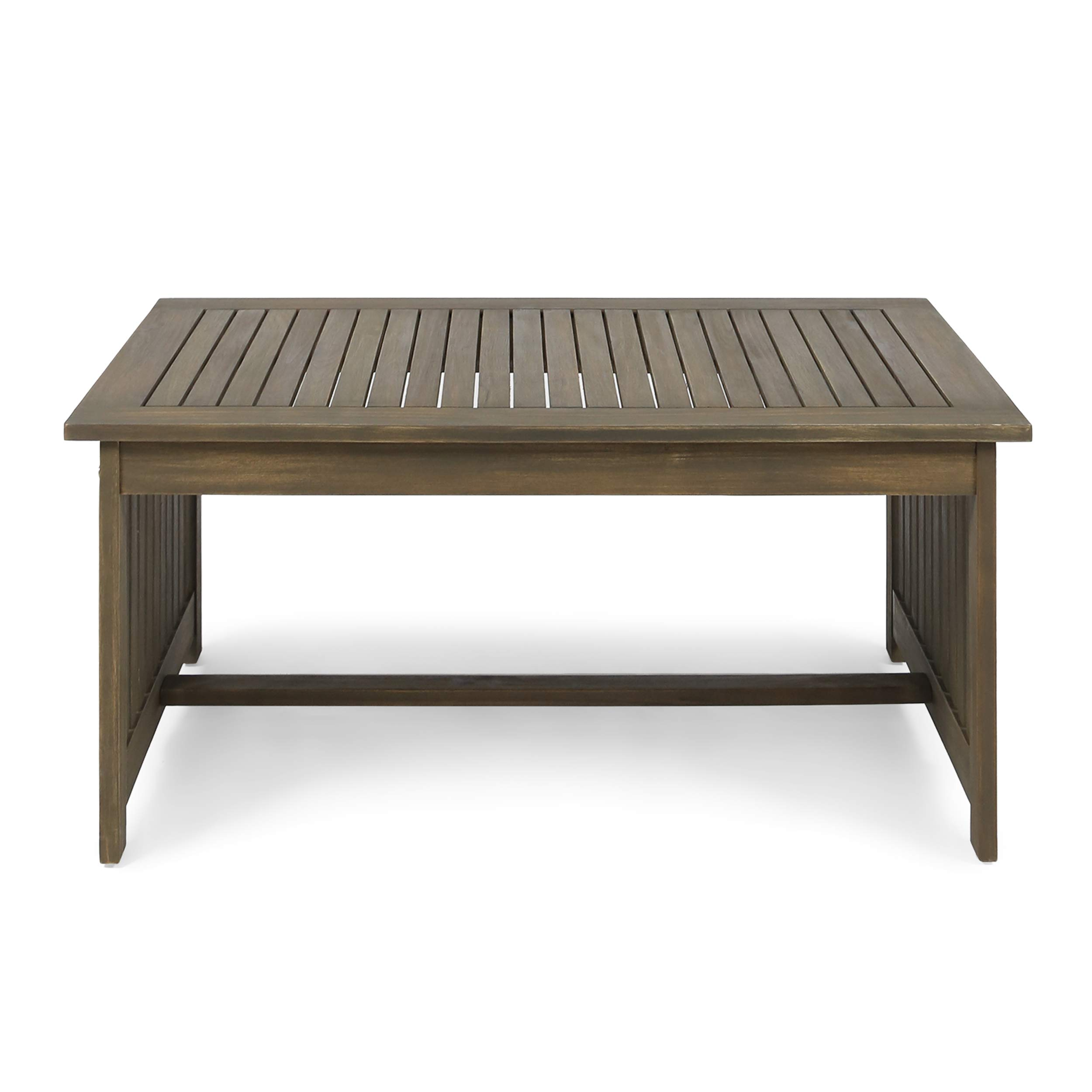 Christopher Knight Home Grace Outdoor Acacia Wood Coffee Table, Gray Finish