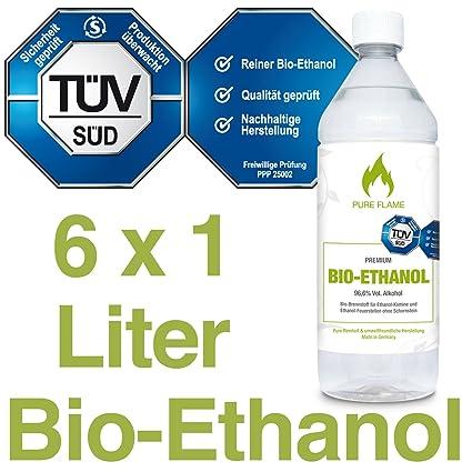 Fabulous 6 x 1L Bioethanol 96,6% - 6 Liter in 1L Flaschen zum handlichen FH94