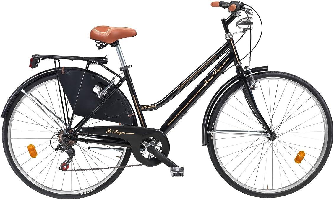F. lli masciaghi Bicicleta Retro Gianni Bugno Woman Negro: Amazon ...