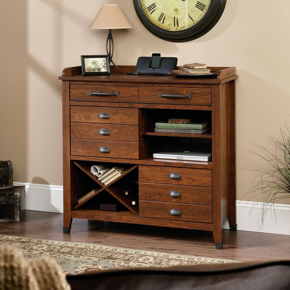 Sauder Carson Forge Sideboard - Washington Cherry Finish