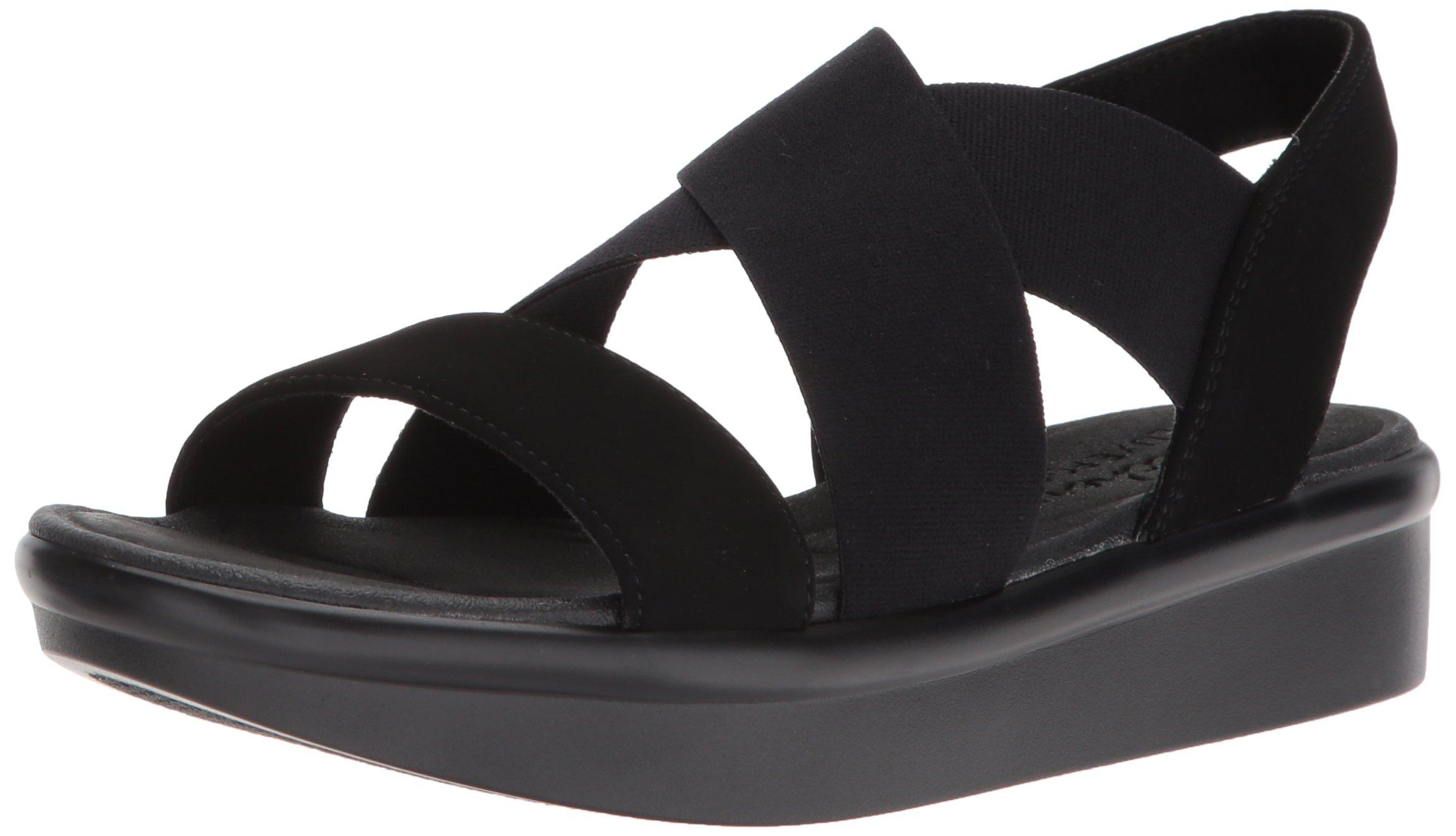 Skechers Cali Women's Bumblers-Super Style Sandal,Black/Black,10 M US