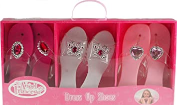 3 Pairs Angel Princess shoes New Christmas Present Girls Dress Up ...
