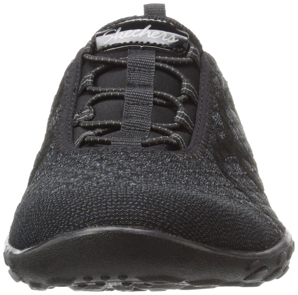 Skechers Sport Women's Breathe Easy Fortune Fashion Sneaker,Black Knit,5 M US by Skechers (Image #4)