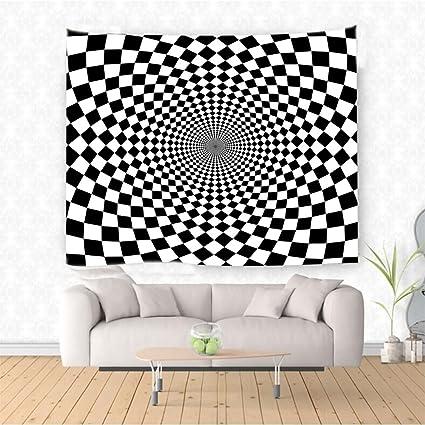 Amazon Com Nalahome Black And White Optic Illusion Motif Zoom