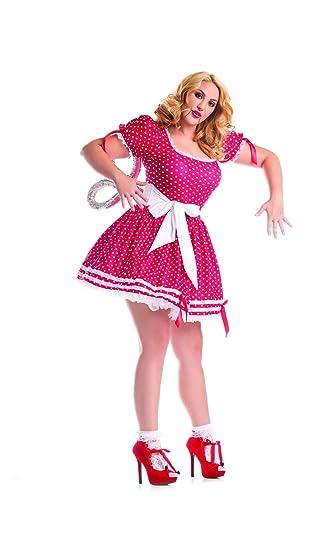 8e579e9d0aa Amazon.com  Party King Women s Plus Size Wind Up Doll Costume Set ...