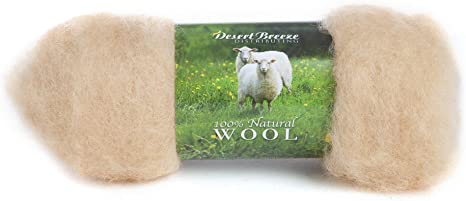 Needle Felting Core Wool 200g Natural White Carded Sheep wool