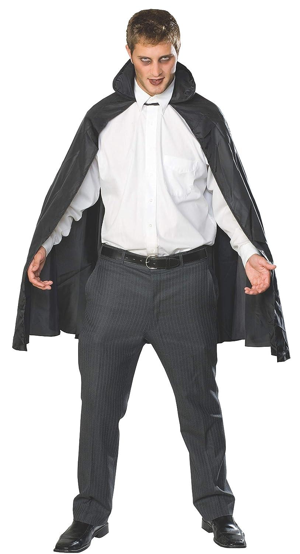 Rubie's Costume Men's Economy Taffeta Cape Black One Size Rubies Costumes - Apparel 16201