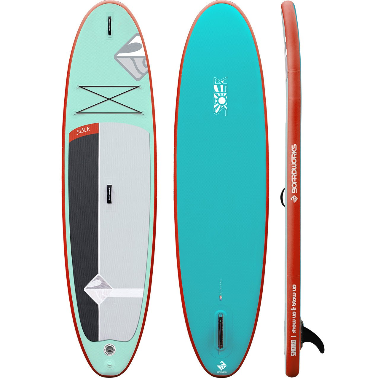 Boardworks SHUBU Solr 10'6 Inflatable Stand-Paddle Board (SUP) Package by Boardworks