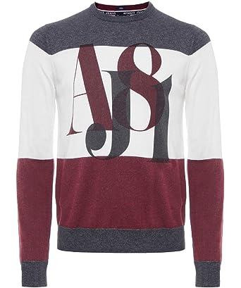 Armani Jeans En Tricot pour homme z6 W25 VK - Rouge - moyen  Amazon ... 166823a71d9