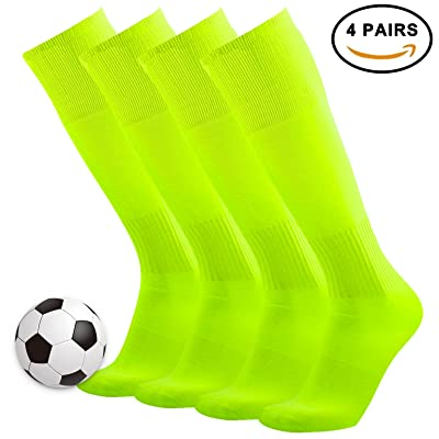 3street Knee High Breathable Solid Sport Long Tube Soccer Socks for Men/Women