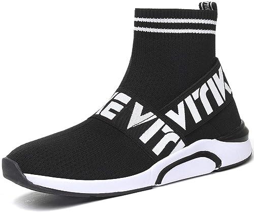 e72df8b15c8e4e Garçon Fille Chaussures de Course Entrainement Mixte Enfant Chaussures de  Sport Légère Respirante Gym Athlétique Fitness