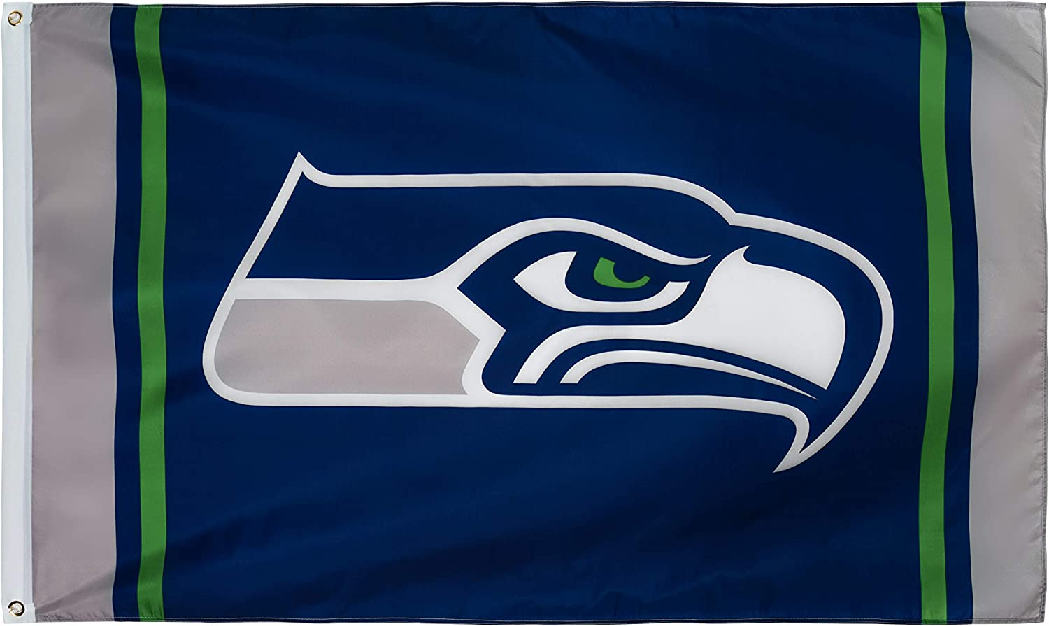 XIFAN Polyester Flag for Seattle Seahawks Team Brass Grommets Football Sports Banner 3 X 5 FT
