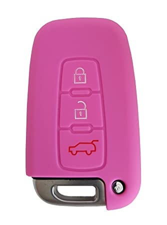 Hyundai Auto-Schl/üssel H/ülle Key Cover Case Etui Silikon f/ür i10 i20 ix20 i30 Pink CK