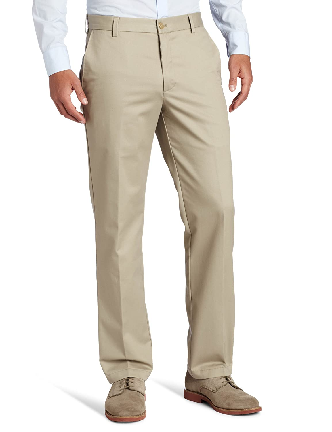 ef724a70f2 IZOD Men's American Chino Flat Front Slim Fit Pant