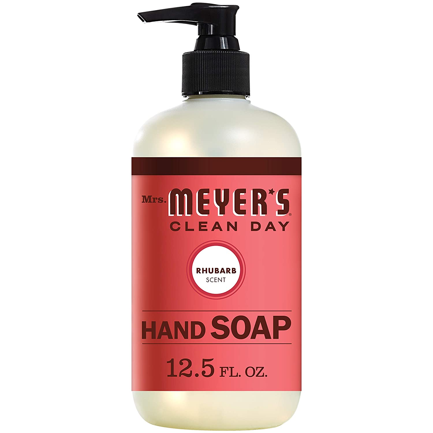 Mrs Meyers Hand Soap Rhubarb 12.5 Ounce Pump (370ml) Mrs. Meyer' s 808124174627