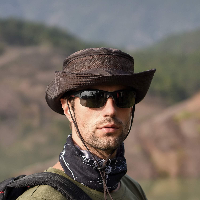 TAGVO Cappelli da Sole a Tesa Larga Maglia Pieghevole Cappelli da Pescatore da Campeggio allAria Aperta Escursionismo da Viaggio Cappellino in Visiera per Protezione UV Cappelli Estivi per Uomo Donne