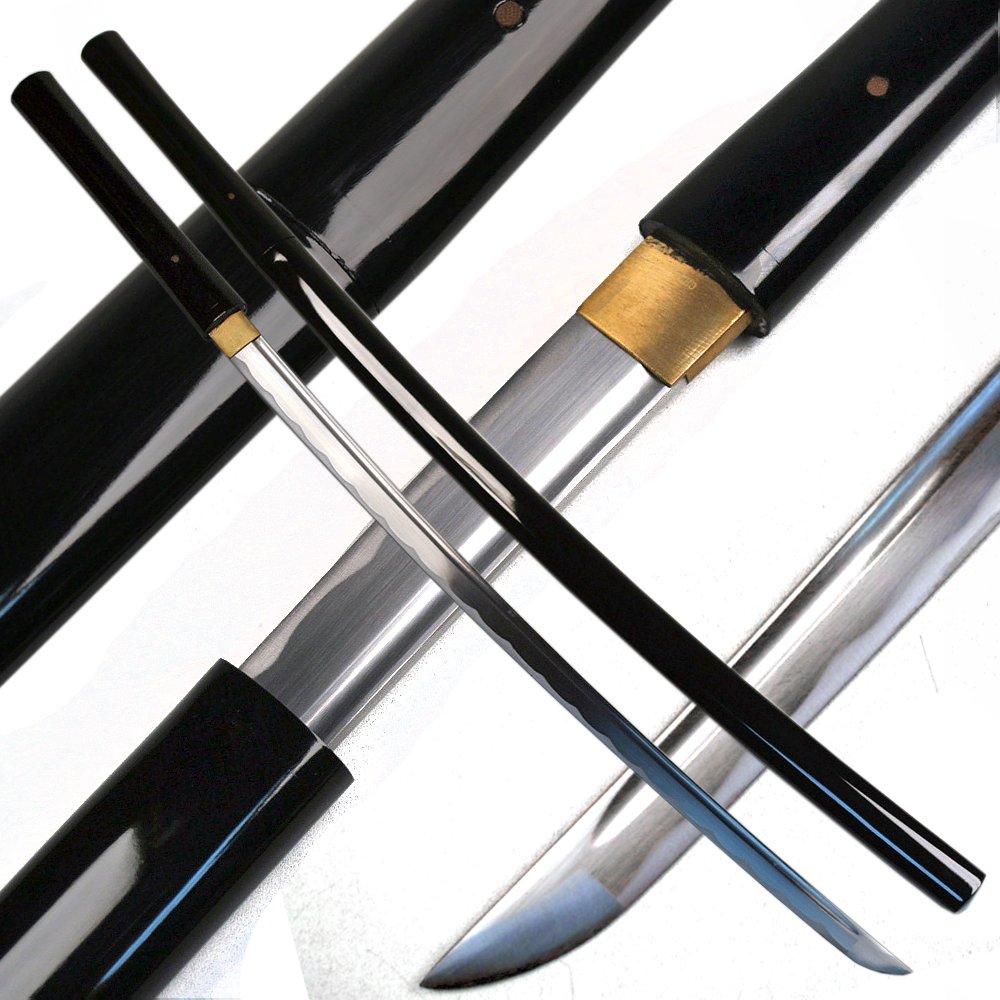 Ace Martial Arts Supply Handmade Japanese Shirasaya Samurai Katana Sharp Sword-Musha (Black) by Ace Martial Arts Supply