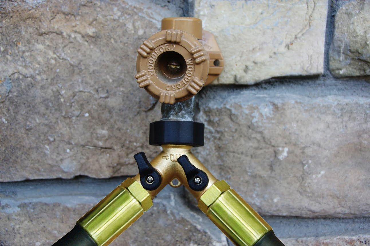 Amazon.com: BRASS 2 WAY VALVE   Easy Turn Brass Hose Splitter Made From  Durable Brass For Smart Homeowners   2 Way Hose Splitter Full Flow For Dual  Hose ...